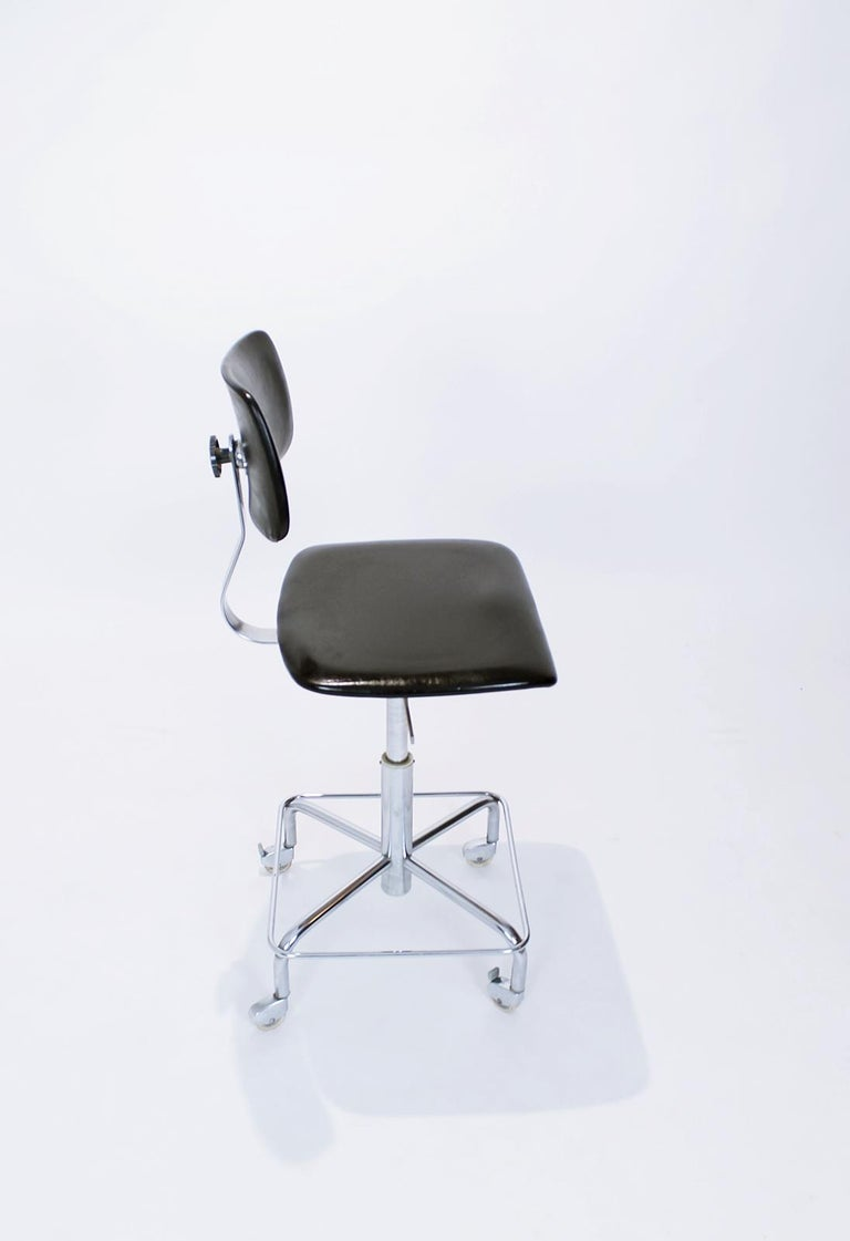Steel Vintage Desk Chair by Bremshey, Germany, 1960s For Sale