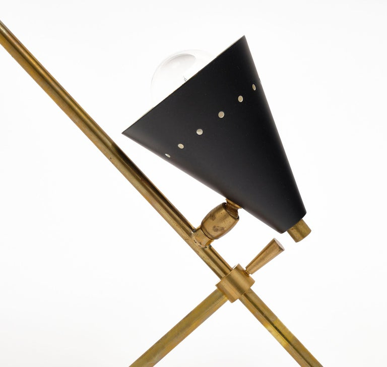 Brass Vintage Desk Lamp Attributed to Stilnovo For Sale