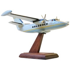 Vintage Desk Model Airplane, Private Jet, Scandinavia, 1970s