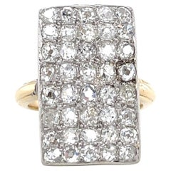Vintage Diamond 18 Karat Gold Cluster Ring