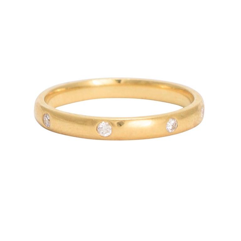 Vintage Diamond 18 Karat Gold Eternity Ring For Sale