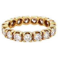 Vintage Diamond 18 Karat Gold Eternity Ring