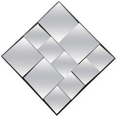 Vintage Diamond 1970s Slopes Mirror