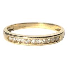 Vintage Diamond and 18 Carat Gold 1/3 Eternity Band