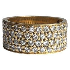 Vintage Diamond and 18 Carat Gold Band