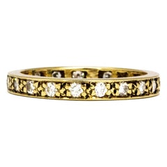 Vintage Diamond and 18 Carat Gold Full Eternity Band