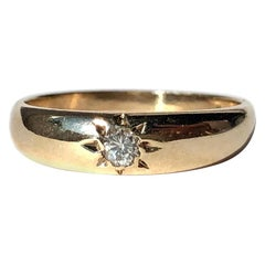 Vintage Diamond and 18 Carat Gold Gypsy Band