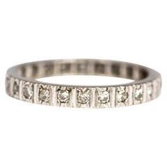 Vintage Diamond and 18 Carat White Gold Eternity Band