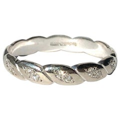 Vintage Diamond and 18 Carat White Gold Twisted Eternity Band