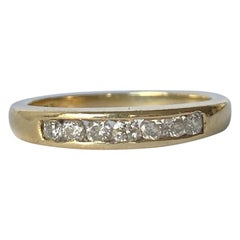 Vintage Diamond and 9 Carat Gold 1/3 Eternity Band