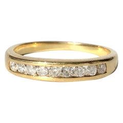 Vintage Diamond and 9 Carat Gold 1/3 Eternity Band