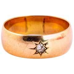 Vintage Diamond and 9 Carat Gold Gypsy Band
