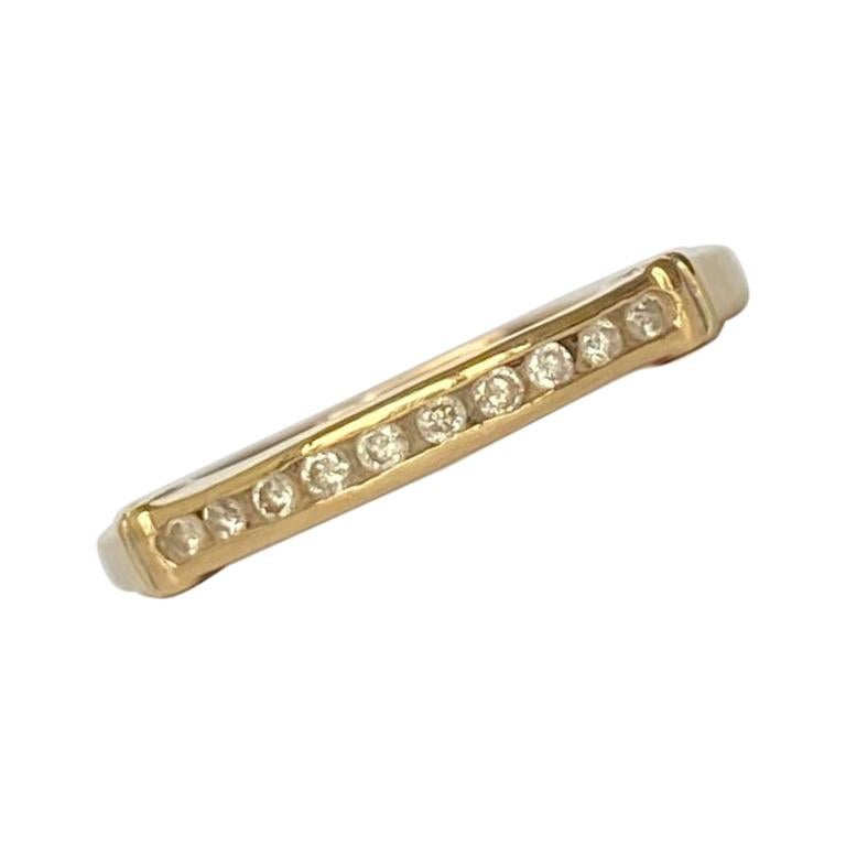 Vintage Diamond and 9 Carat Gold Half Eternity Band