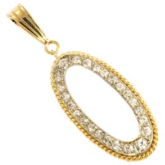 Vintage Diamond and 9 Carat Gold Pendant