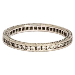 Vintage Diamond and Platinum Eternity Ring