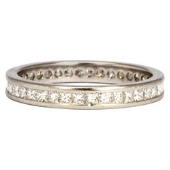 Vintage Diamond and Platinum Full Eternity Band