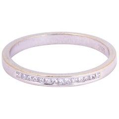 Vintage Diamond and Platinum Half Eternity Ring