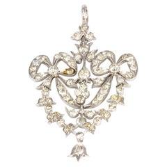 Vintage Diamond and Platinum Pendant