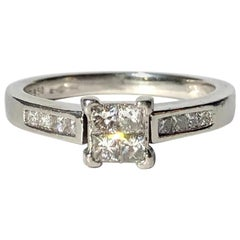 Vintage Diamond and Platinum Ring