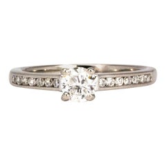 Vintage Diamond and Platinum Solitaire Ring