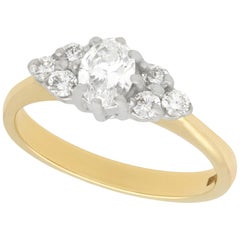 Vintage Diamond and Yellow Gold Cluster Ring