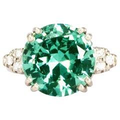 Vintage Diamond and Zircion Platinum Ring