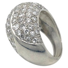 18 Karat Vintage Diamond Bombé Cocktail Diamond Ring