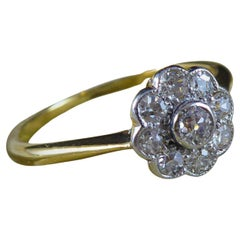 Vintage Diamond Daisy Cluster Engagement Ring, Circa 1930s/1940s