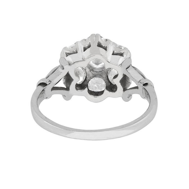 rings daisy cluster in ring platinum spiers engagement michael diamond store