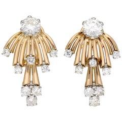 Vintage Diamond Earrings, circa 1950