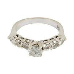 Vintage Diamond Engagement Ring 1.5 Carat 14K White Gold