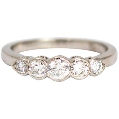 Vintage Diamond Five-Stone Platinum