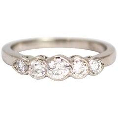 Vintage Diamond Five-Stone Platinum