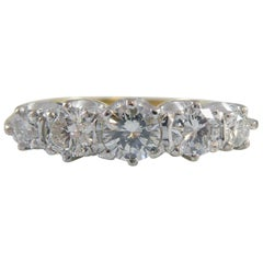 Vintage Diamond Five-Stone Ring, 0.63 Carat, Hallmarked London 1983, 18ct Gold