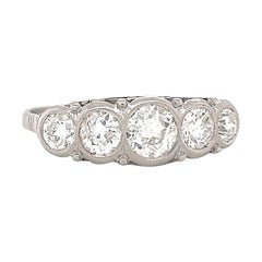 Vintage Diamond Five Stone Ring Platinum