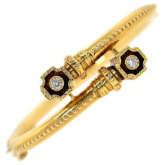 Vintage Diamond Gold Bangle
