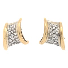 Vintage Diamond Gold Earrings 3.75 Carat 18 Karat Yellow Gold