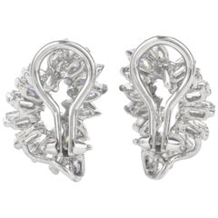 Vintage Diamond Leaf Inspired 18 Karat Earrings