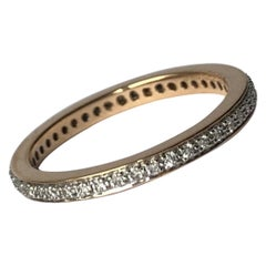 Vintage Diamond, Platinum and 18 Carat Gold Eternity Band