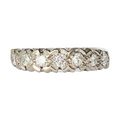 Vintage Diamond Platinum and 18 Carat Gold Ring