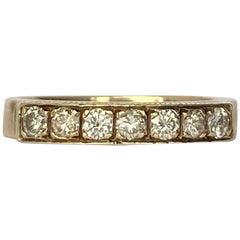 Vintage Diamond Platinum and 9 Carat Gold Ring