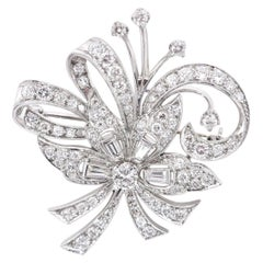 Vintage Diamond Platinum Brooch