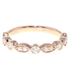 Vintage Diamond Rose Gold Wedding Band