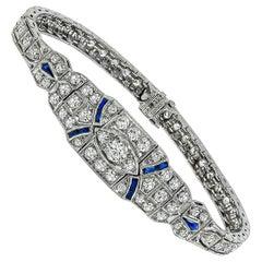 Vintage Diamond Sapphire Bracelet