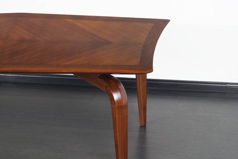 American Vintage Diamond Shaped Conference Table or Dining Table by Monteverdi Young For Sale