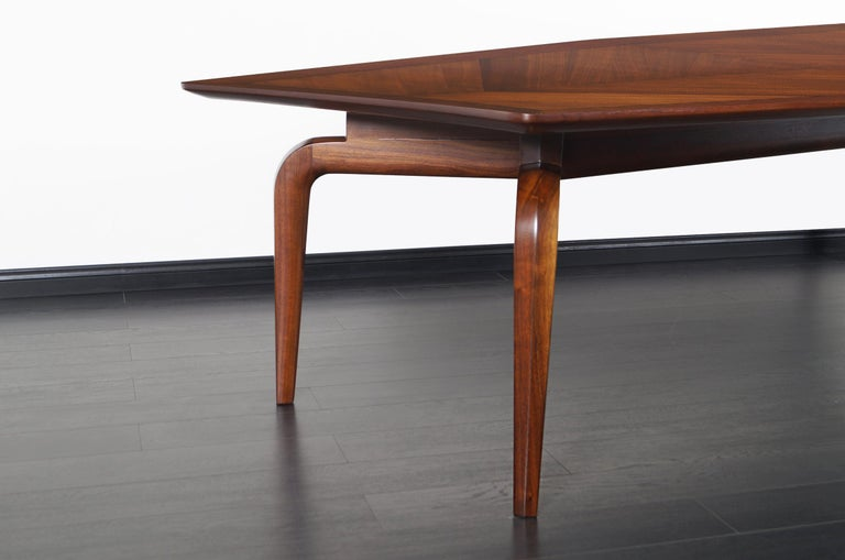 Mid-20th Century Vintage Diamond Shaped Conference Table or Dining Table by Monteverdi Young For Sale