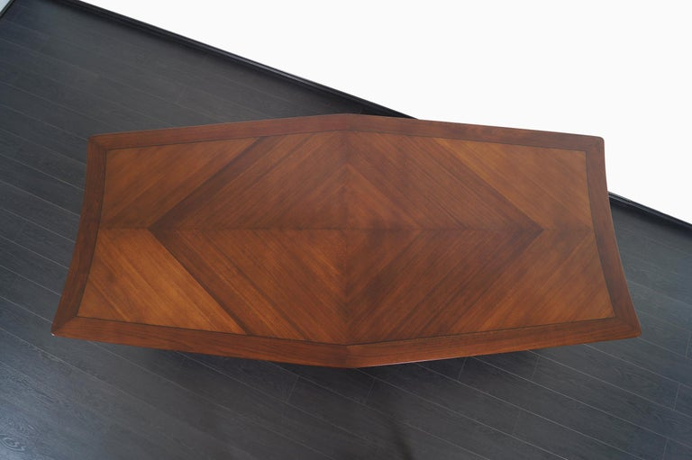 Vintage Diamond Shaped Conference Table or Dining Table by Monteverdi Young For Sale 1