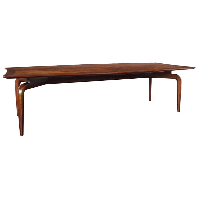 Vintage Diamond Shaped Conference Table or Dining Table by Monteverdi Young For Sale