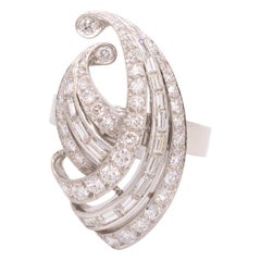 Vintage Diamond Swirl Ring