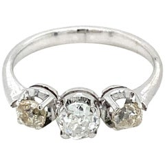 Vintage Diamond Three-Stone Gold Ring